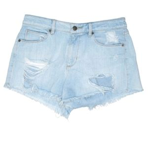 Jean Shorts Distressed Distroyed Frayed Hems